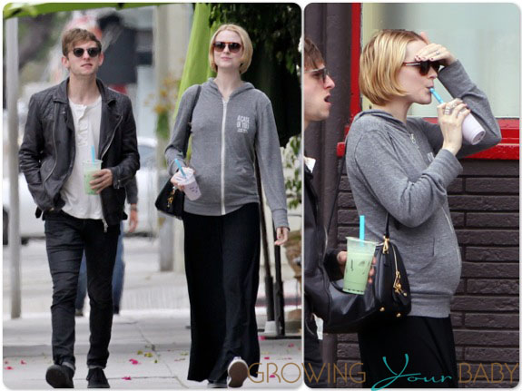 Pregnant Evan Rachel Wood with husband Jamie Bell ...