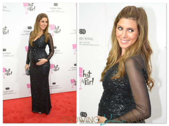 Pregnant Jamie Lynn Sigler at hospital benefit in Santa Monica