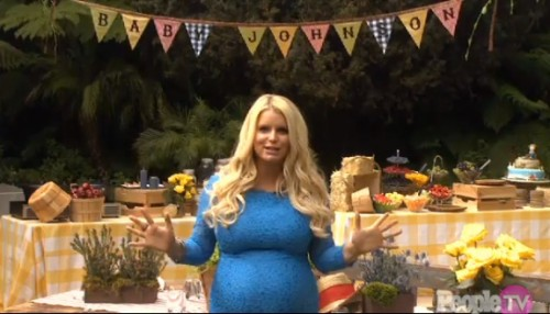Pregnant Jessica Simpson at her baby shower