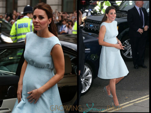 Pregnant Kate Middleton at The Art Room charity at the National Portrait Gallery