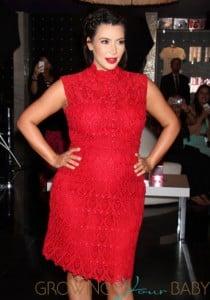 Pregnant Kim Kardashian Promoting Her 'Glam' Perfume In Vegas