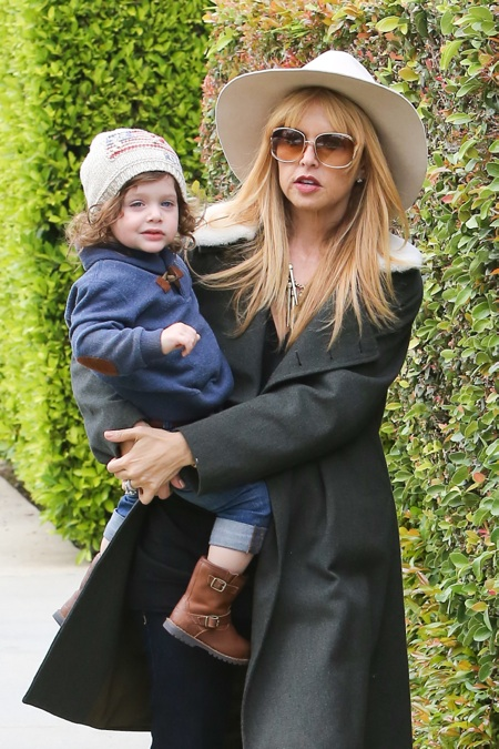 Rachel Zoe and her son Skyler went to a birthday party in Hollywood