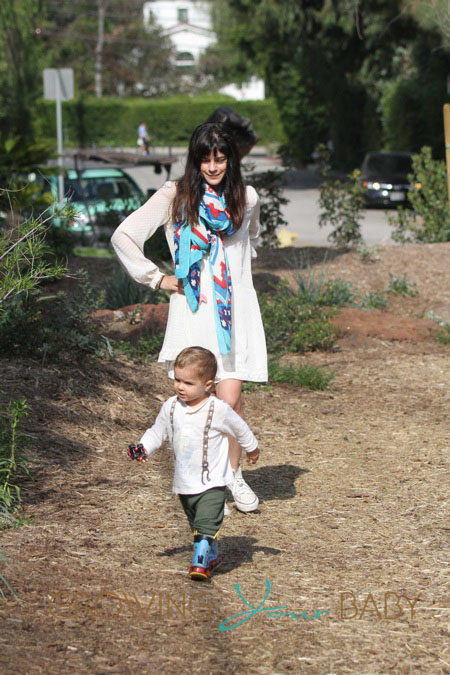 Selma Blair Takes Her Son To The Park