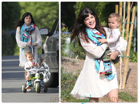 Selma Blair out with son Arthur Bleick