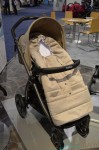 2014 Peg Perego Book Pop Up Stroller in Creme with foot muff