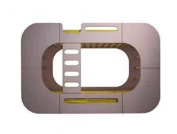 IO Kids Design Bunk Pod grey