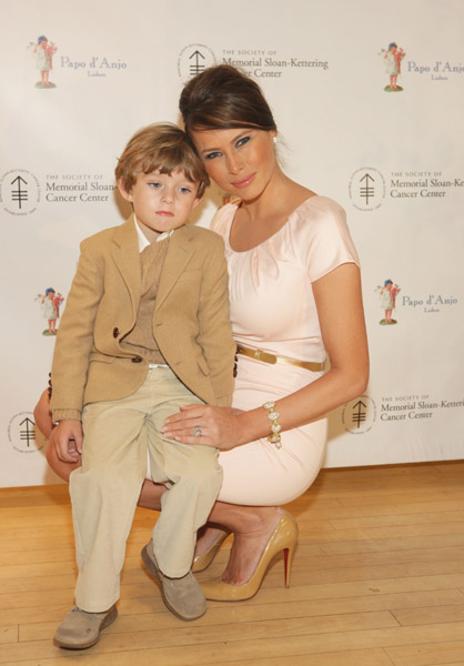Melania and barron trump at the 18th annual Bunny Hop