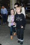 Angelina Jolie at LAX with twins Vivienne and Knox