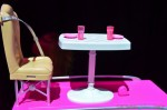 Barbie Pop-up Camper - dining table