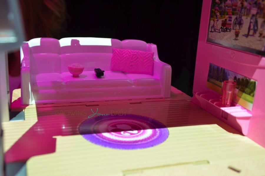 Barbie Pop-up Camper living room - Growing Your Baby