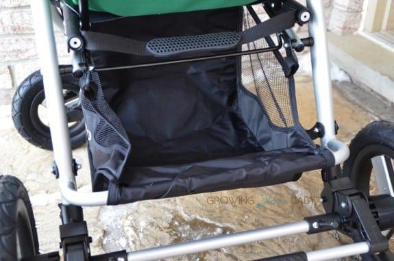 Bumbleride Indie 4 stroller - shopping basket