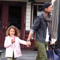 Gabriel Aubry Lunches With His Lady!