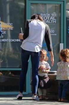Jenna Dewan Tatum and her daughter Everly in LA