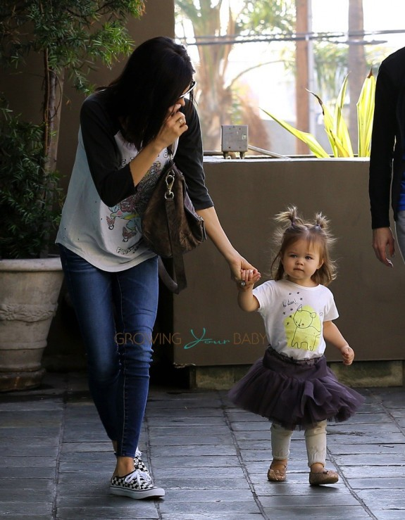 Jenna Dewan Tatum and her daughter Everly in LA