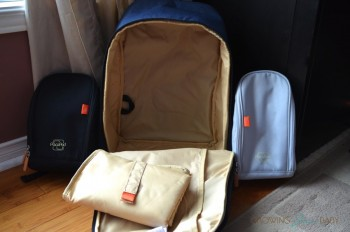 Pacapod Picos pack - pods and inside of the bag
