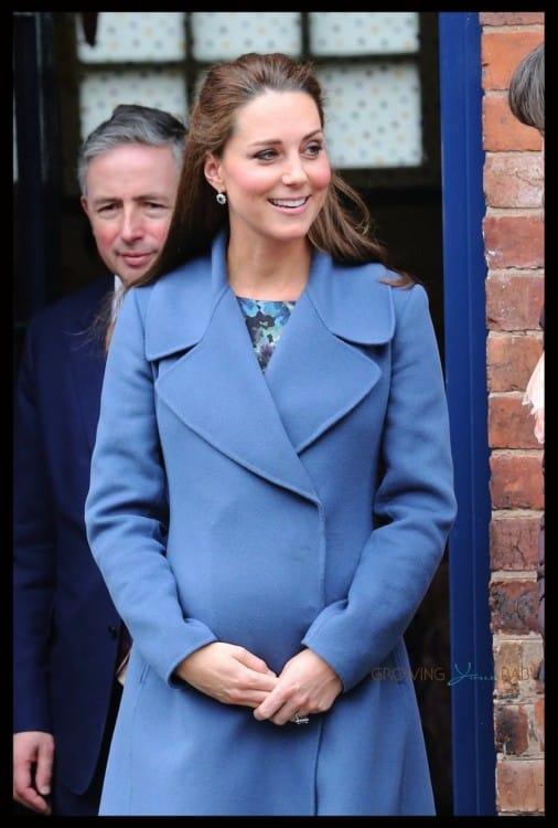 Pregnant Duchess of Cambridge seen leaving the Emma Bridgewater factory in Stoke-on-Trent