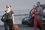Scarlett Johansson spotted out with her husband Romain Dauriac and baby daughter Rose Dorothy