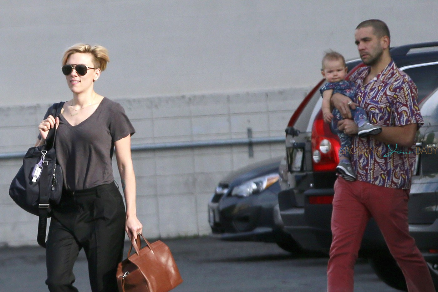 Scarlett Johansson Spotted Out With Her Husband Romain