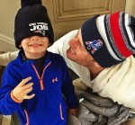 Tom Brady getting ready for Duck Boat Parade with son Benjamin