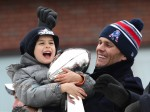 Tom Shares The Lombardi Trophy With His Son Benjamin!
