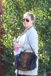 A very pregnant Haylie Duff running some errands in LA
