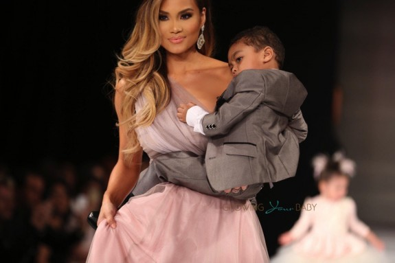 50 Cent and model Daphne Joy kick off LA Fashion Week supporting their son, Sire Jackson