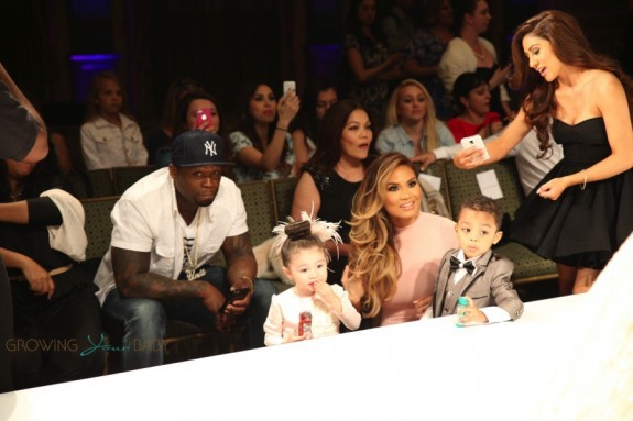 50 Cent and model Daphne Joy kick off LA Fashion Week supporting their son Sire Jackson