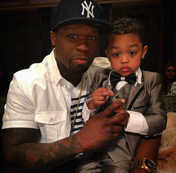 50 cent with son Sire Jackson