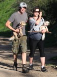 A Very Pregnant Milla Jovovich Hikes The Hills With Her Pups