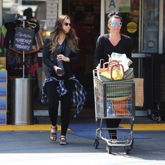 A pregnant Jessica Biel out in LA
