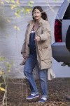 A very pregnant Jessica Biel on the set of her new movie 'The Devil and The Deep Blue Sea'