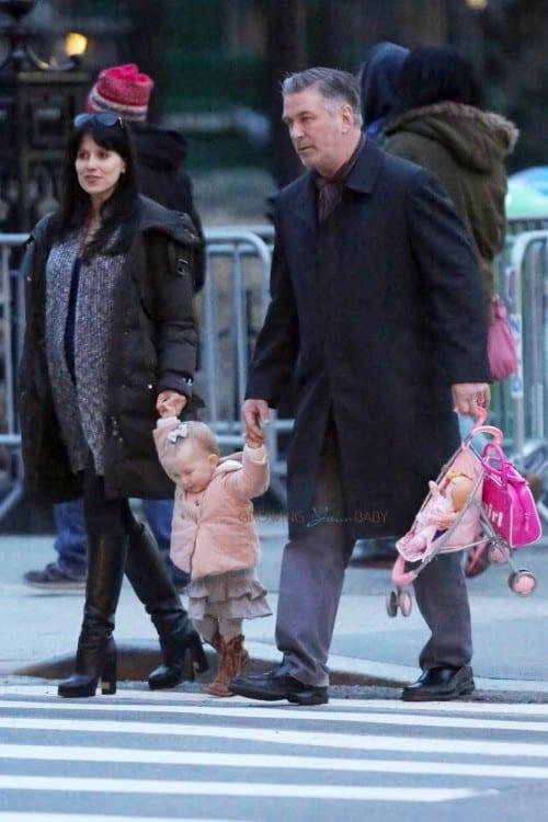 Alec Baldwin and Hilaria take baby Carmen to Washington Square Park
