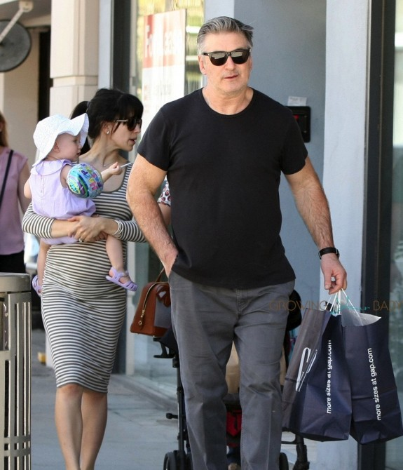 Alec Baldwin out with pregnant wife Hilaria and daughter Carmen  in LA