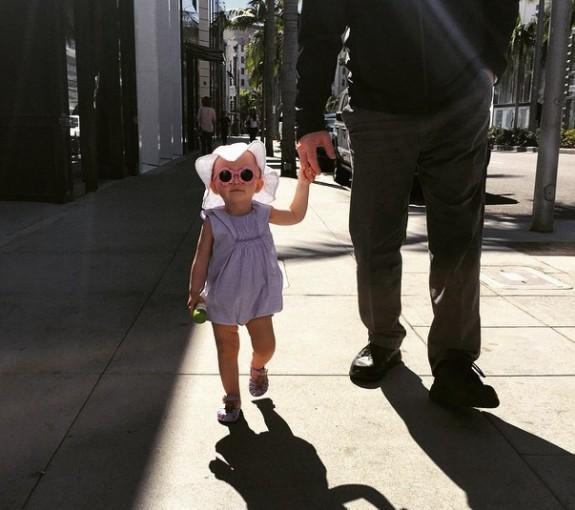 Alec Baldwin with daughter Carmen