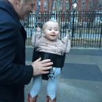 Alec Baldwin with daughter Carmen at the park