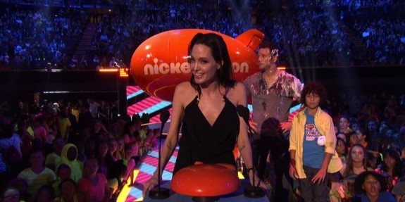 Angelina Jolie at the Nickelodeon Kid's Choice Awards
