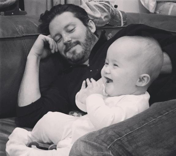 Brandon Blackstock with daughter River
