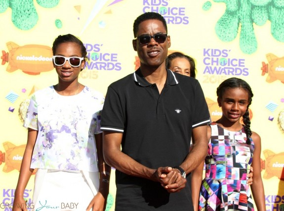 Chris Rock with daughter Lola and Zahra at the Nickelodeon Kid's Choice Awards