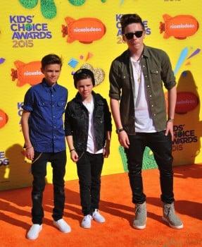 Cruz, Romeo and Brooklyn Beckham at The Nickelodeon Kid's Choice Awards