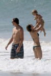Gisele Bundchen and Tom Brady take a stroll on the beach in Costa Rica with their kids Ben & Vivian