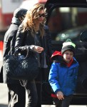 Gisele Bundchen out in NYC with son John Brady