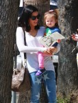 Jenna Dewan Shops  With Everly in Studio City
