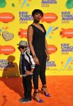 Jennifer Hudson with son David Otunga Jr at the Nickelodeon Kid's Choice Awards