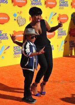 Jennifer Hudson with son David Otunga Jr at the Nickelodeon Kid's Choice Awards