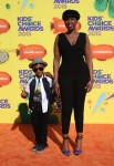 Jennifer Hudson with son David Otunga Jr at the Nickelodeon Kids Choice Awards