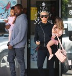 Kanye West and Kim Kardashian leave a dance class with daughter North and niece Penelope