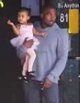 Kanye West leaves a dance class with daughter North