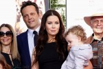 Kyla Weber and Vince Vaughn with son Vernon at Vince's Hands and Footprints Ceremony in Hollywood