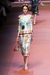 MFW Autumn:Winter 2015 - Dolce & Gabbana - Viva La Mamma - childs drawing dress 2