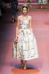 MFW Autumn:Winter 2015 - Dolce & Gabbana - Viva La Mamma - child's drawing dress 3